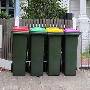 outdoor rubbish bins